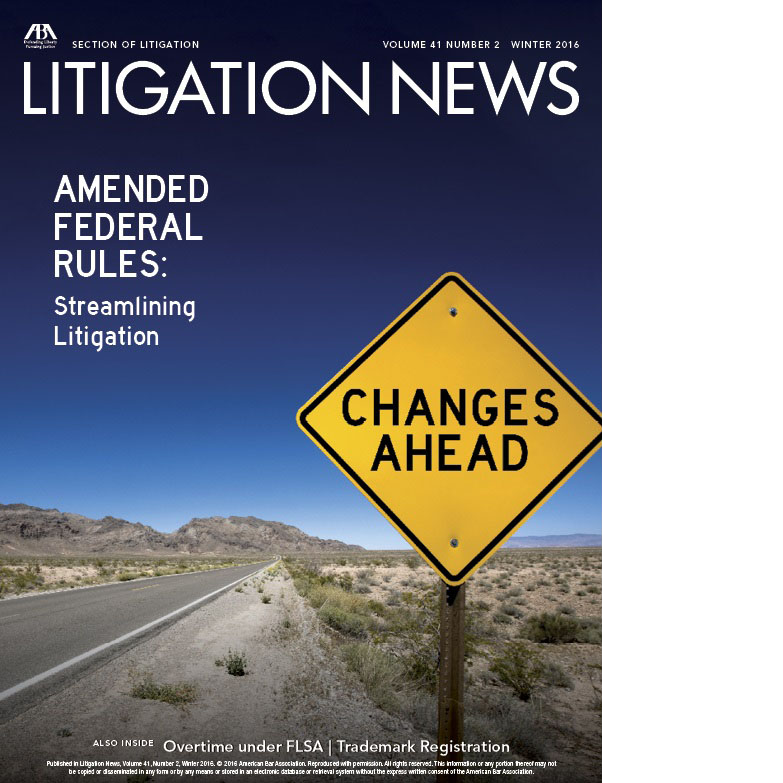 Litigation News Fall 2015