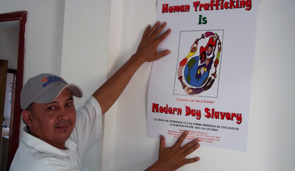 ABA ROLI participated with members of the Anti-Trafficking in Persons Information, Education and Communication Sub-Committee in the nationwide distribution of more than 1,200 copies of four different posters to educate the public about anti-human trafficking procedures. The posters, funded by the Government of Belize, were placed in a variety of locations, including bus terminals, hospitals, and schools, to maximize exposure.
