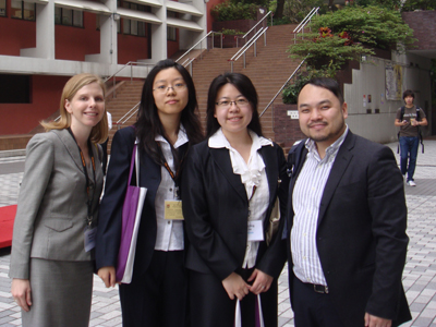 This year the first mainland China team participated in the international client counseling competition.
