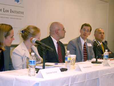 The October 15 event discussed multiple facets of human trafficking including child and labor-related trafficking.