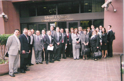 As part of their San Diego visit, the Mexican judges observed a number of criminal court proceedings and met with various U.S. federal and state judges.