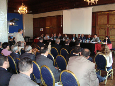 The outreach session in Tangier sparked a lively debate.